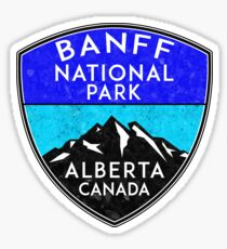 BANFF NATIONAL PARK ALBERTA CANADA Skiing Ski Mountain Mountains Snowboard Boating Hiking 7 Sticker