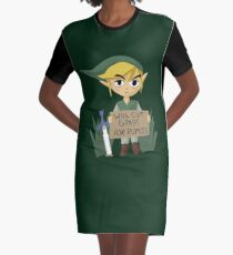 Looking For Work - Legend of Zelda Graphic T-Shirt Dress
