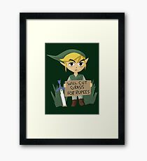 Looking For Work - Legend of Zelda Framed Print