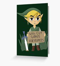 Tarjeta de felicitación Buscando trabajo - Legend of Zelda