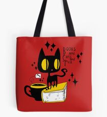 Books and Cats and Tea Tote Bag
