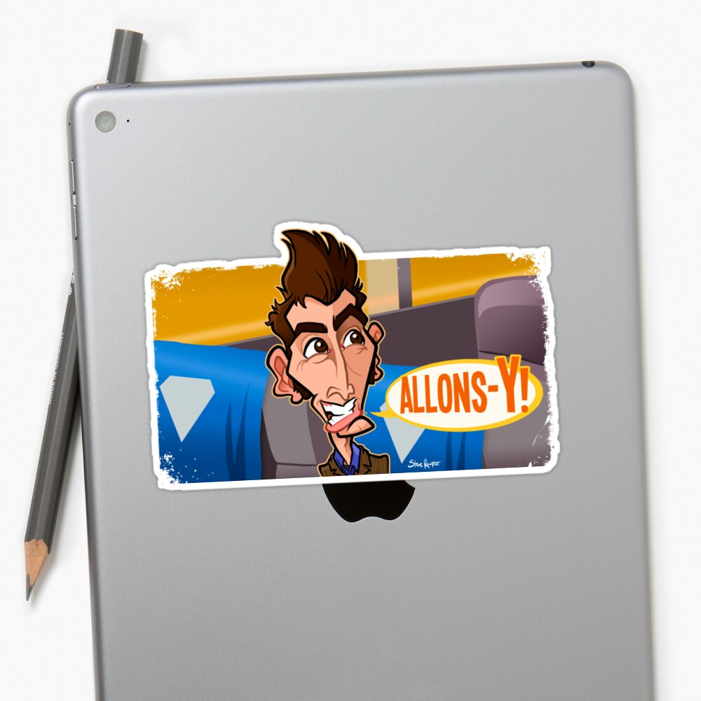 Allons-y Sticker Front