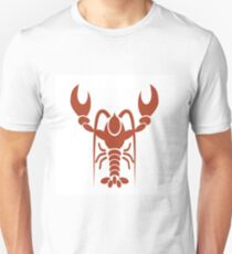 silhouette of red lobster Unisex T-Shirt