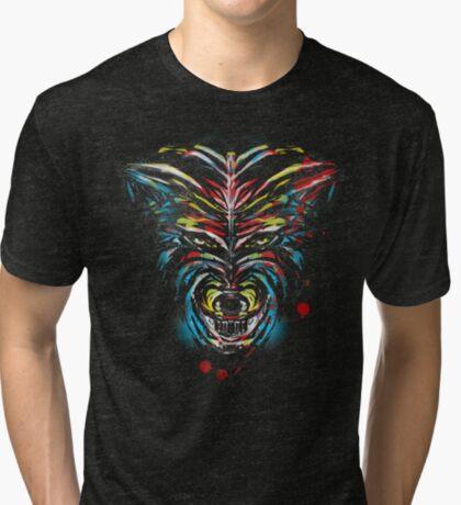 stencil wolf Tri-blend T-Shirt