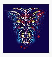 stencil wolf Photographic Print