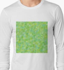 green abstract background Long Sleeve T-Shirt