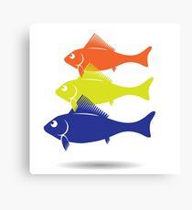 fish symbol Canvas Print