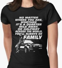 Fast 8 - Paul Walker Forever Women's Fitted T-Shirt