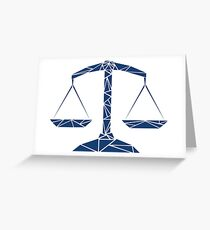 Law Scale Greeting Card