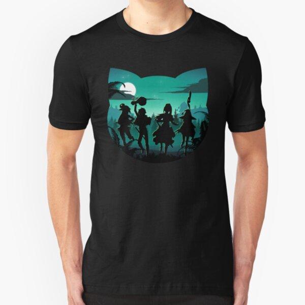 Chomusuke Silhouette Slim Fit T-Shirt