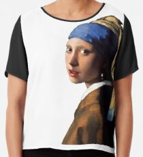 The Girl With A Pearl Earring Chiffon Top