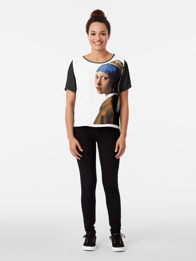 Alternate view of The Girl With A Pearl Earring Chiffon Top
