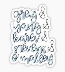 Grey, Yang, Karev, Stevens, O'Malley Sticker