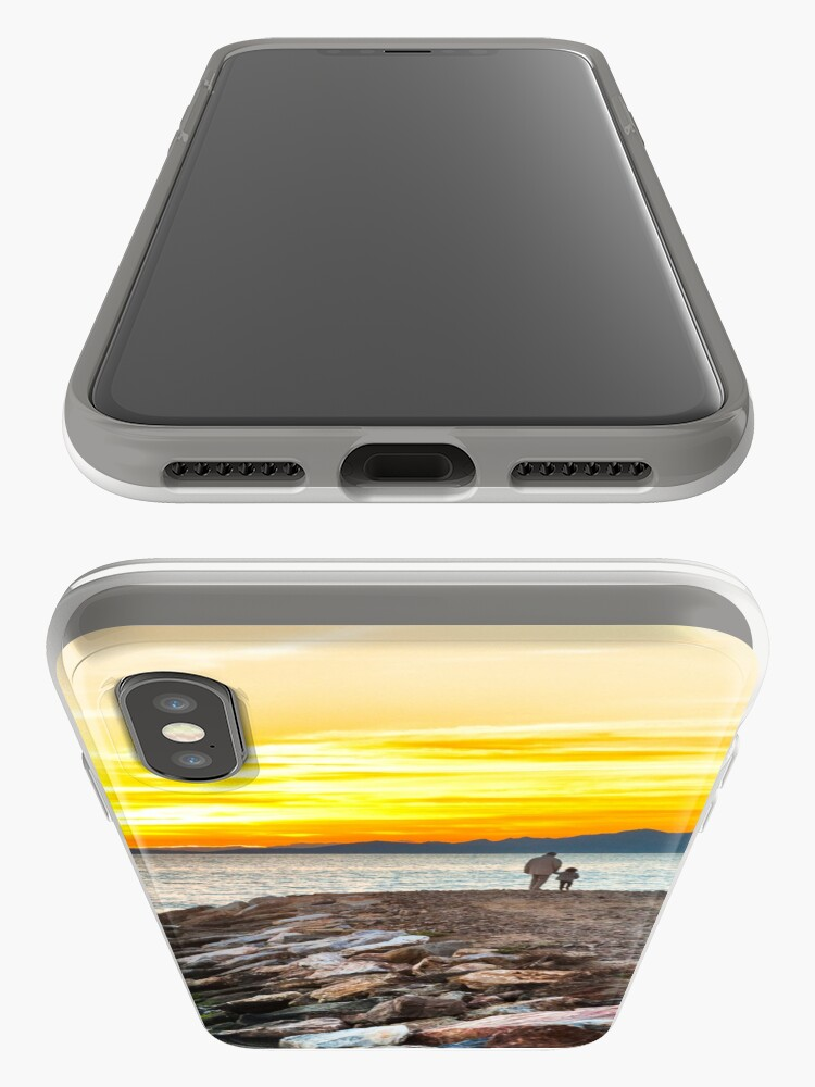 Alternate view of Sunset with dad iPhone Case & Cover