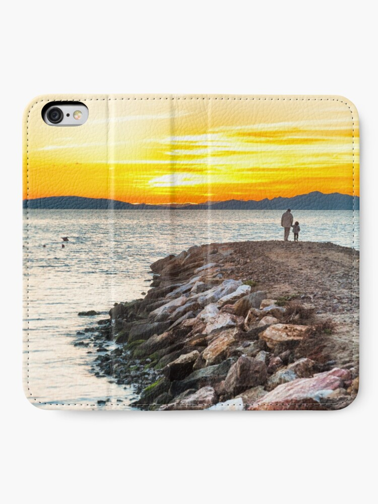 Alternate view of Sunset with dad iPhone Wallet