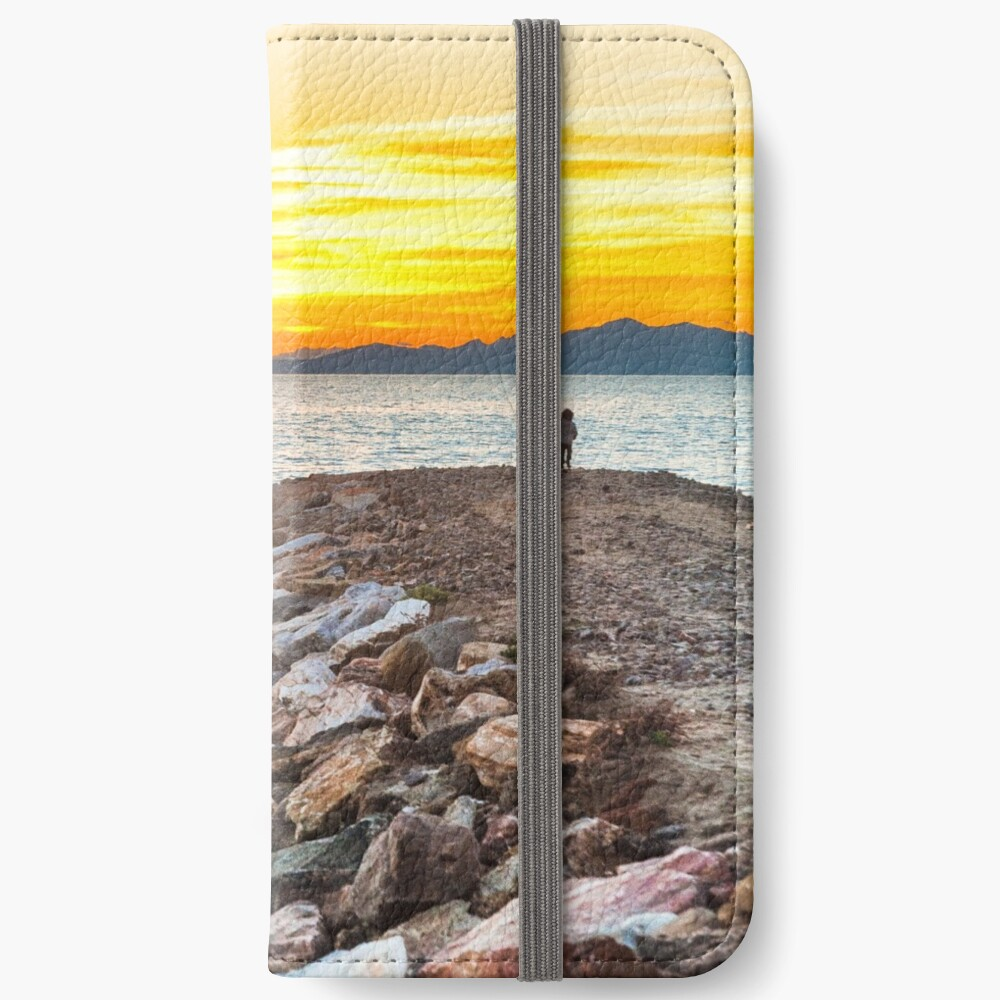 Sunset with dad iPhone Wallet