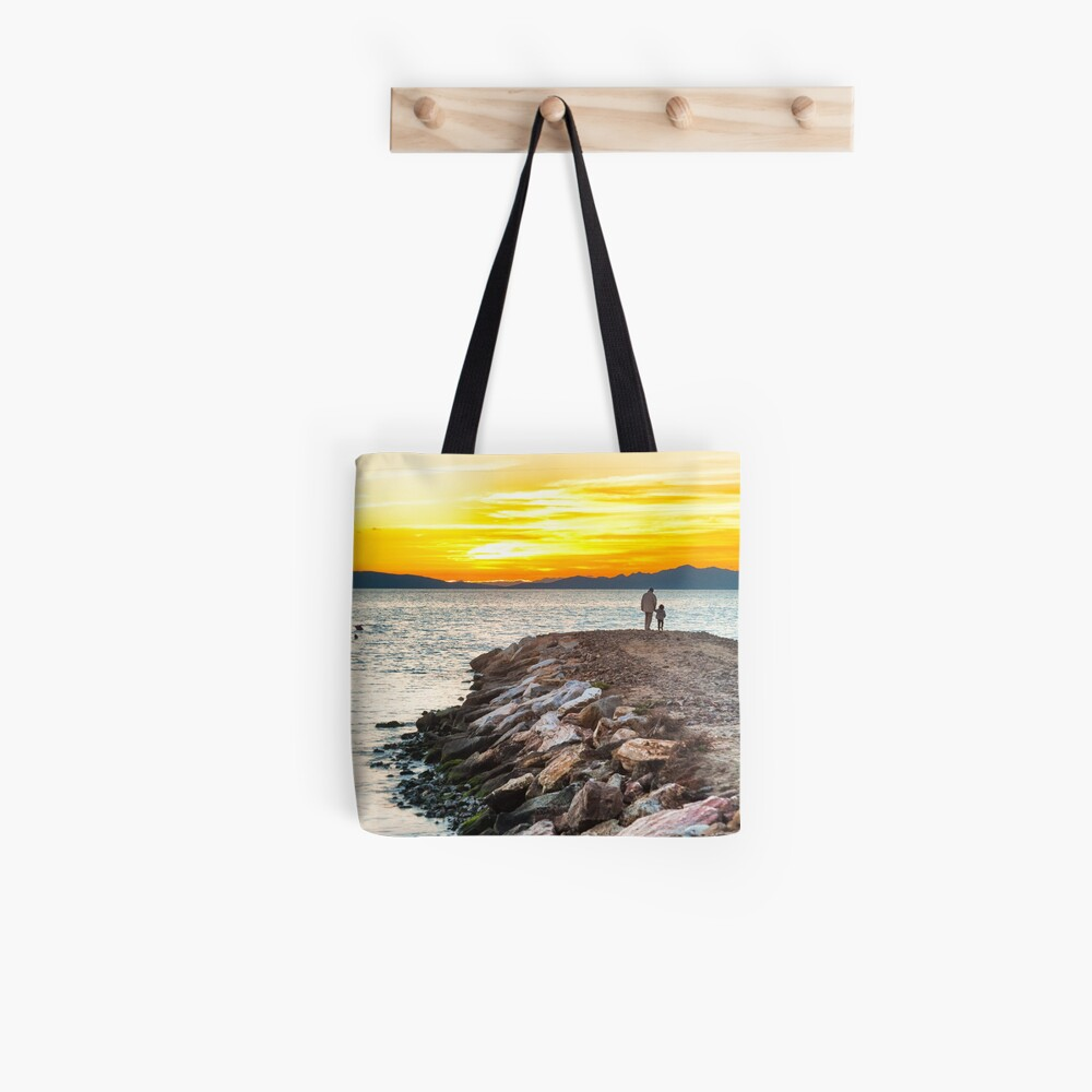 Sunset with dad Tote Bag