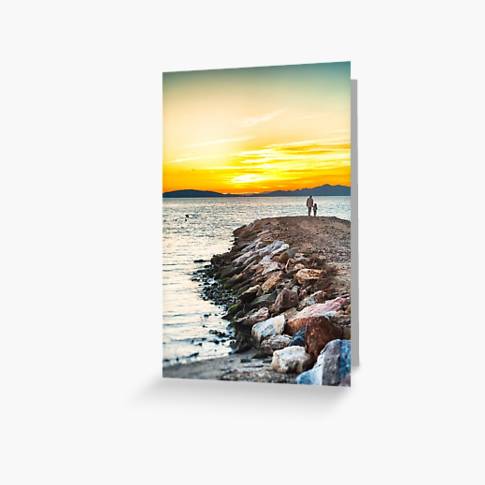 Sunset with dad Greeting Card