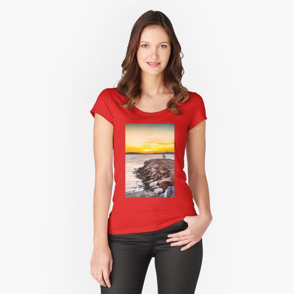 Sunset with dad Fitted Scoop T-Shirt