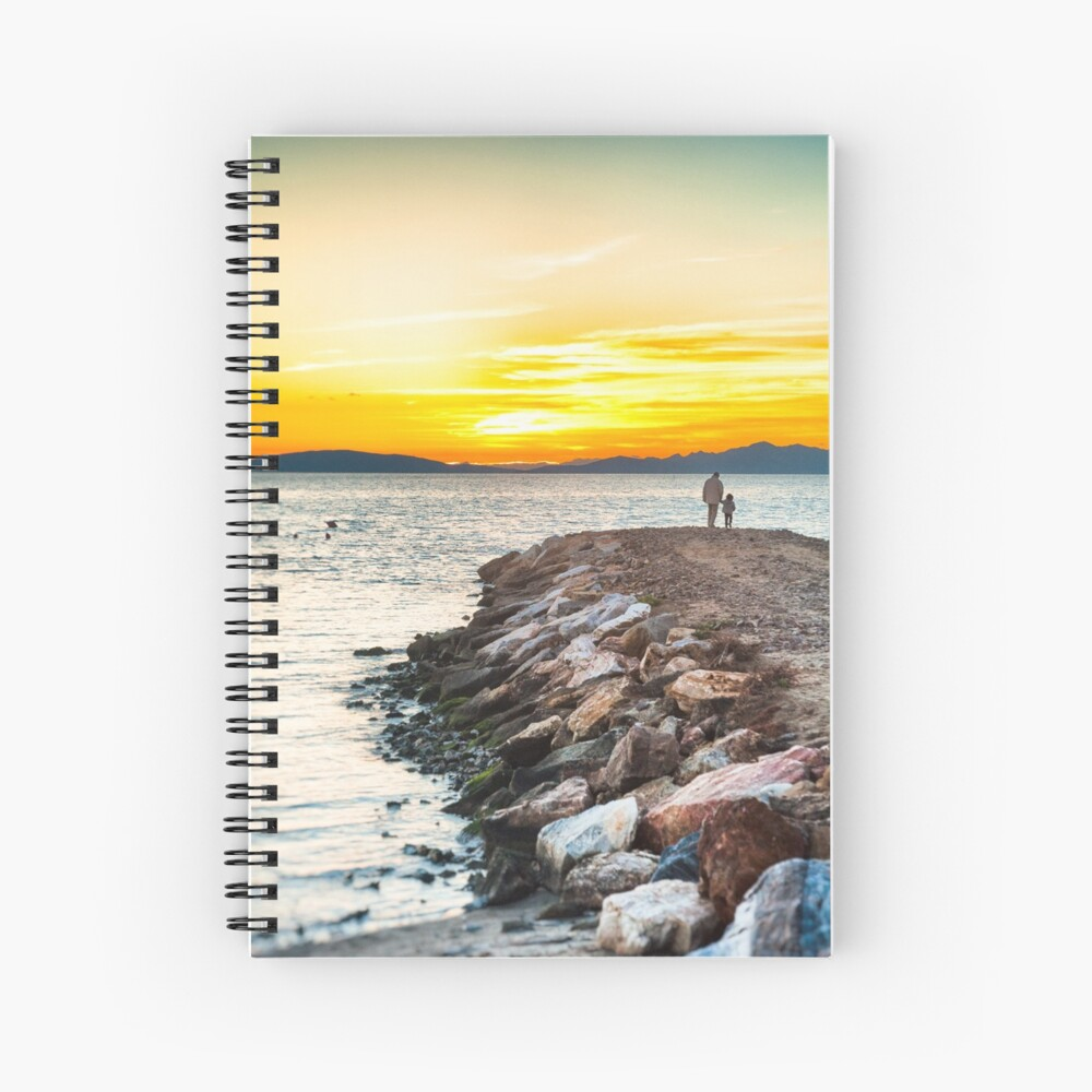 Sunset with dad Spiral Notebook