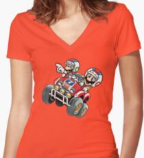 Super Mario Bros - Rally  Women's Fitted V-Neck T-Shirt