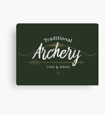 Traditional Archery Stick & String Canvas Print