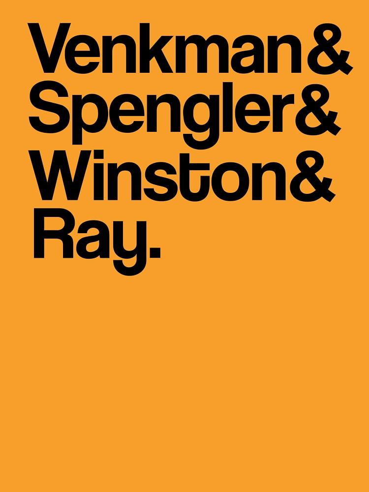 Venkman & Spengler & Winston & Ray   Unisex T-Shirt