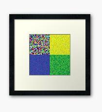 hexagon backgrounds Framed Print