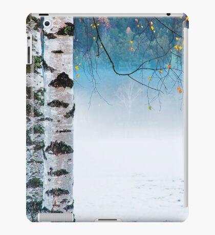 Birches in the mist iPad Case/Skin