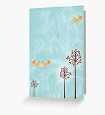 Birds in Trees Greeting Card