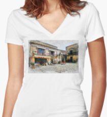 Erice art 4 Women's Fitted V-Neck T-Shirt