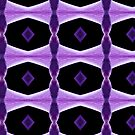 Purple and Black patern Fractal by TeAnne