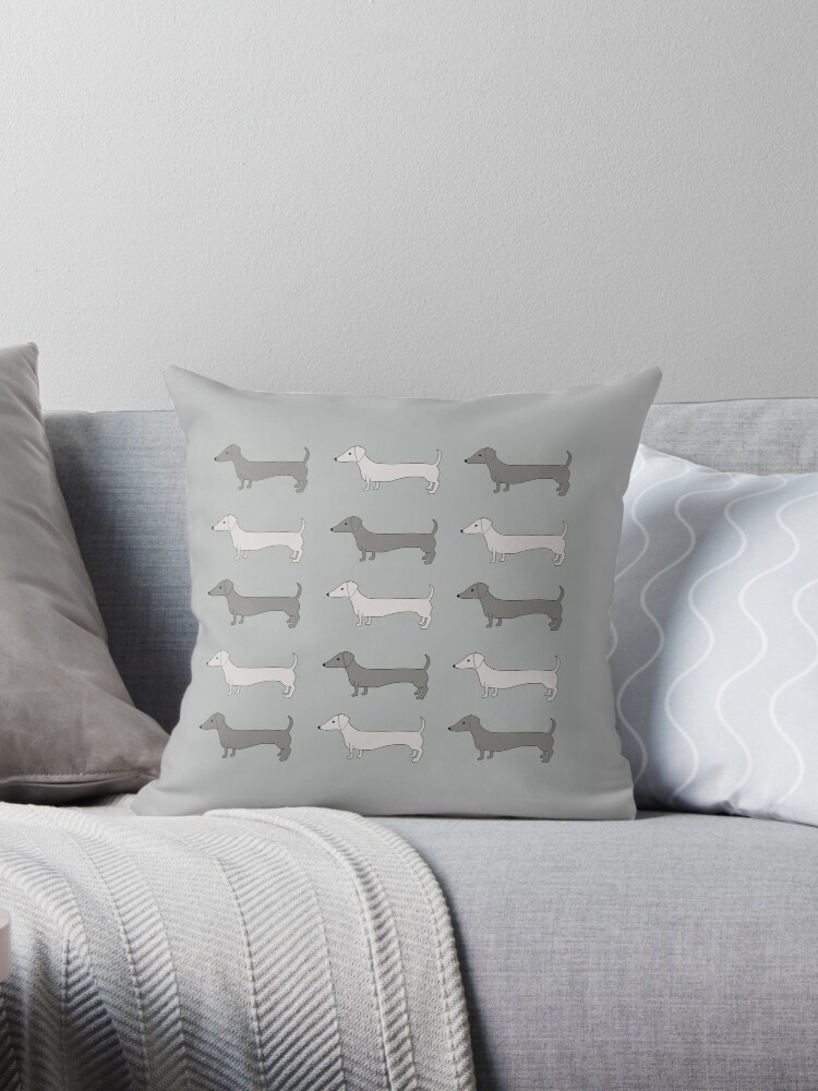 «Dachshund Tiles GREY» de lilyindia