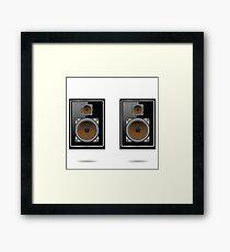 musical speakers Framed Print