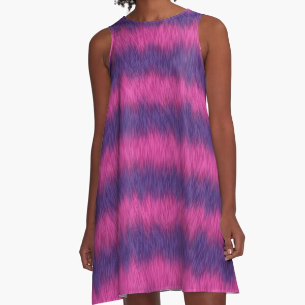 Cheshire Cat 01 A-Linien Kleid