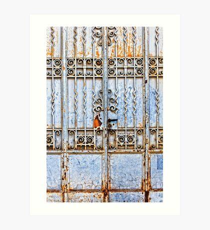 Rusty gate Art Print