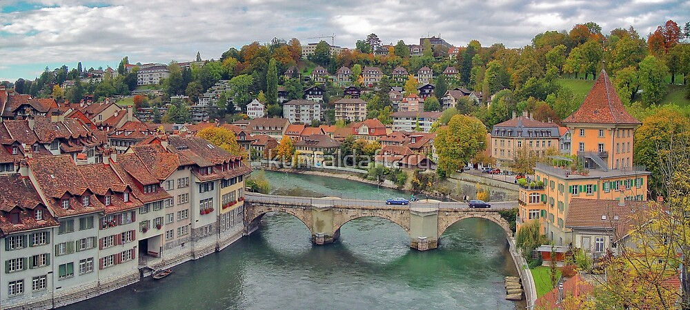 Aare Panorama from Nydeggbrücke 2 by kuntaldaftary