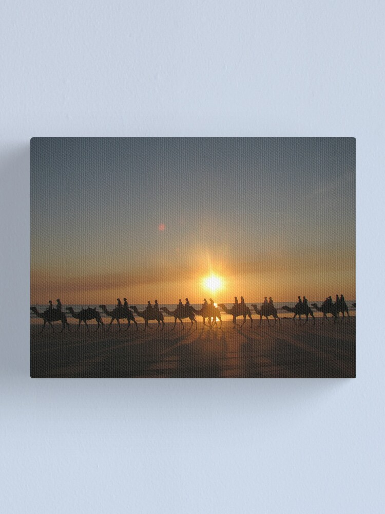 """Alternate view of """"Those Camels"""" Cable Beach,West.Aust Canvas Print"""