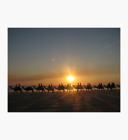 """Those Camels"" Cable Beach,West.Aust Photographic Print"