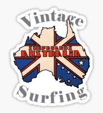 Vintage Surfing Surfboards Australia Sticker