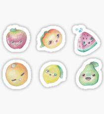 Kawaii Watercolor Fruits Sticker