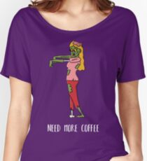 Coffee Zombie Girl Women's Relaxed Fit T-Shirt
