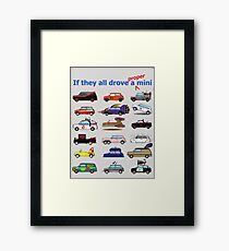 Film and TV cars as Mini -Grey Framed Print