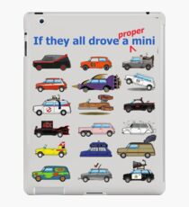 Film and TV cars as Mini -Grey iPad Case/Skin