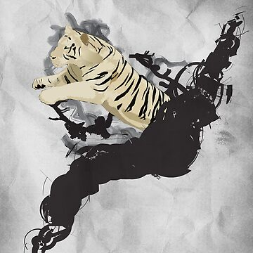 Jumping tiger by Mv2dot