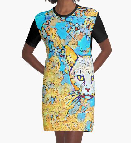 Catus Graphic T-Shirt Dress