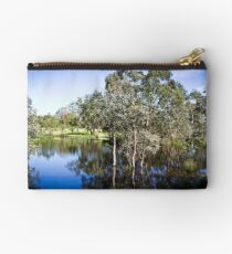 Trees reflected at Dunkeld Community Park, Victoria Studio Pouch