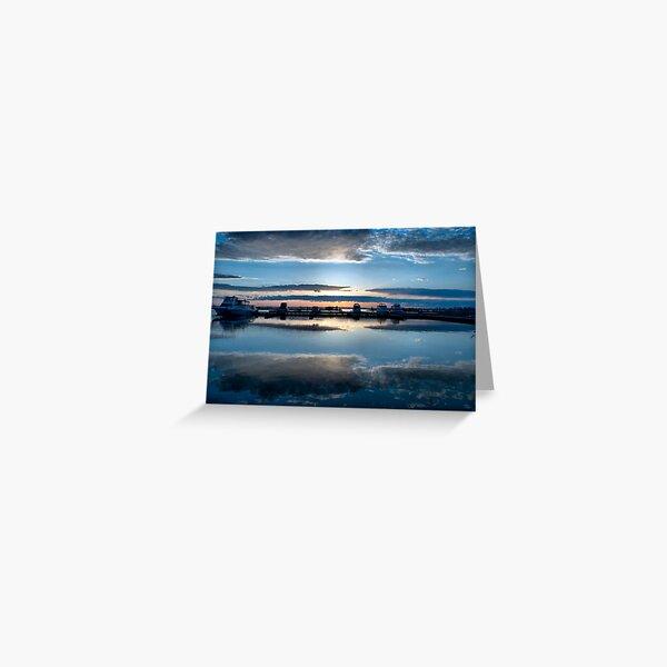 Dawn Harbour Greeting Card