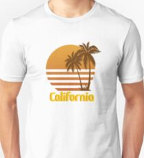 Vintage California Sunset by Willow Art Unisex T-Shirt
