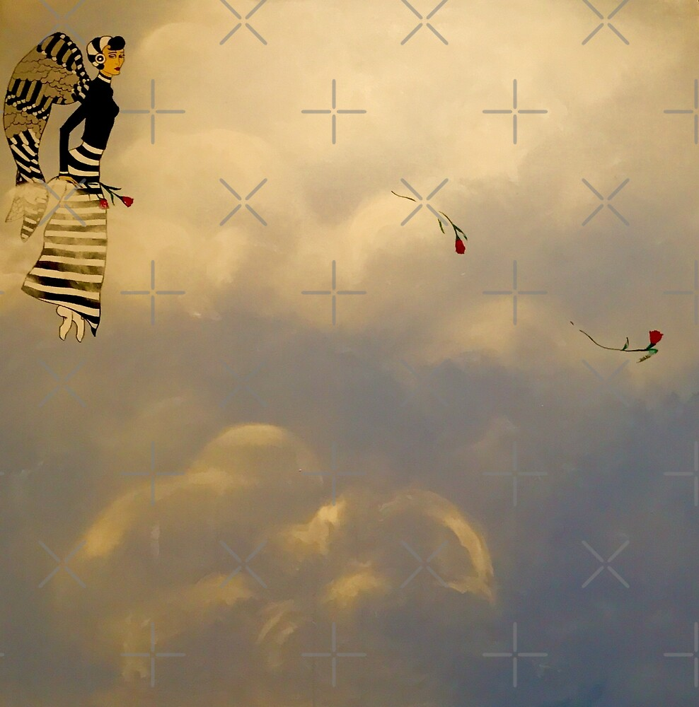 ANGEL IN STRIPED SKIRT by marlaakajake